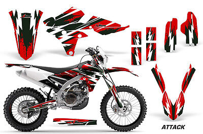 Decal Graphic Kit Wrap For Yamaha WR250F 2015-2018 WR450F 2016-2018 ATTACK RED