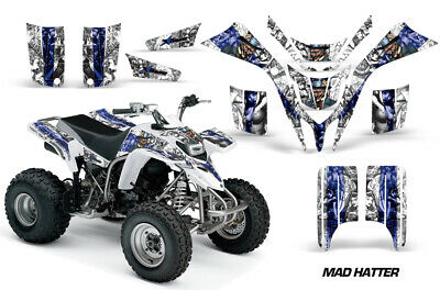 Used, ATV Graphics kit Decal for Yamaha Blaster 200 All Years Mad Hatter White Blue for sale  Shipping to Ireland