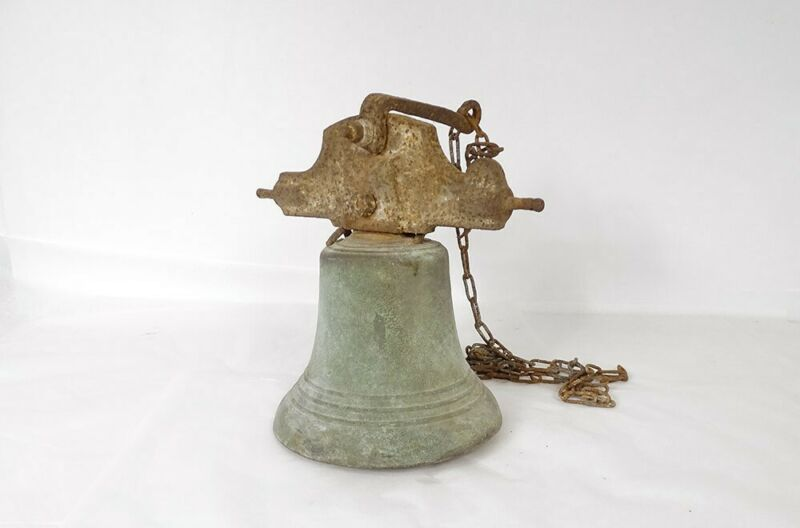 Bell Estate Bronze Wrought Iron Antique French Bell 19th Century