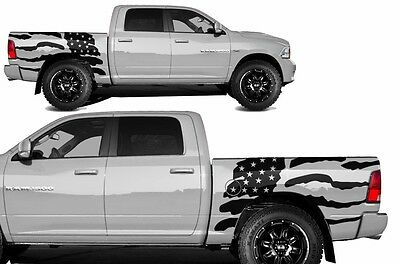 Vinyl Graphics Decal PATRIOT Wrap Kit for Dodge Ram Truck 2009-18 5.7 BED Black