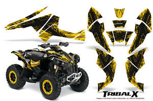 Can-Am Renegade Graphics Kit by CreatorX Decals Stickers TRIBALX BLACK YELLOW