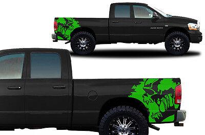 Custom Vinyl Graphics Decal SCREAM Wrap Kit for Dodge Ram 1500/2500 02-08 GREEN