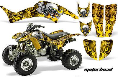 ATV Graphics Kit Decal Quad Sticker Wrap For Honda TRX400EX 1999-2007 MOTOHD YLW