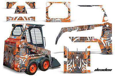Graphics Kit Decal Wrap For Bobcat Skidsteer Mini Loader Skid Steer Deaden Orng