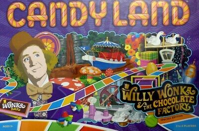 CANDYLAND Willy Wonka & the Chocolate Factory Game (Englisch)  NEU OVP