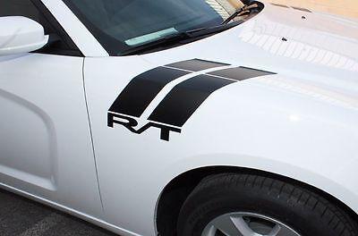(Vinyl Graphics Decal Wrap Kit RT HOOD HASH for 2011-14 Dodge Charger MATTE BLACK)
