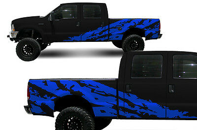 Custom Vinyl Decal Shred Wrap Kit for Ford F-250/F-350 Truck Parts 1999-06 BLUE for sale  Las Vegas