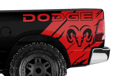 Custom Vinyl Decal Wrap Kit for Ram 1500/2500/3500 2009-2014 DODGE RAM HEAD Red