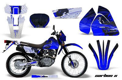 Dirt Bike Graphics Kit Decal Sticker Wrap For Suzuki DRZ200 SE 96-09 CARBONX BLU
