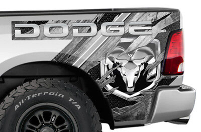 Dodge Ram 1500 Rear Quarter Panel Graphic Kit Truck Bed Decal Set 09-14 METAL