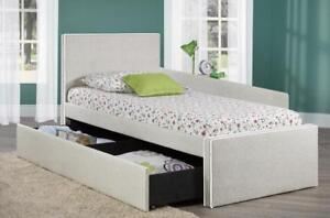 Canadian made Single bed with storage (TI31)