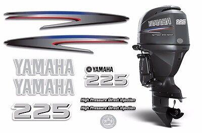 Yamaha 225 HPDI Sticker Decals Outboard Engine Graphic 225hp Sticker USA MADE
