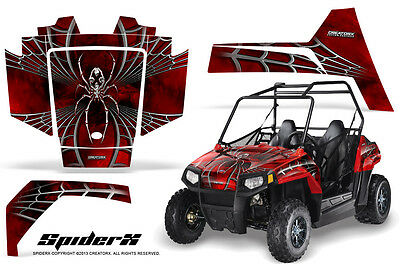 Polaris RZR 170 Youth UTV Side x Side Graphics Kit CreatorX Decals SpiderX R (170 Polaris Graphic Kits)