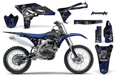 Dirt Bike Graphics Kit Decal Sticker Wrap For Yamaha YZ250F 2010-2013 TOXIC U K