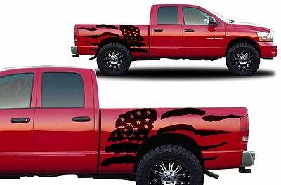 Custom Vinyl Decal PATRIOT Wrap Kit for Dodge Ram 1500 2500 2002-08 Truck BLACK