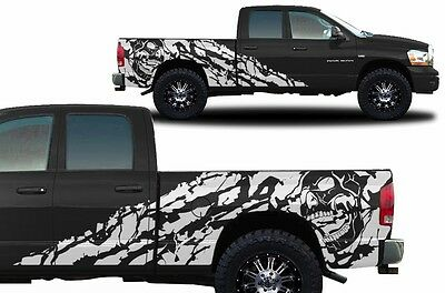 Custom Vinyl Decal NIGHTMARE Wrap Kit for Dodge Ram 1500/2500 02-08 Matte White