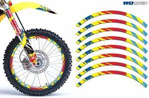 Rim Trim Kit For Suzuki DRZ RM RMX RMZ Dirt Bike MX Decals Racing Stickers