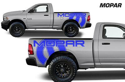 Vinyl Graphics Decal MOPAR Wrap for 09-18 Dodge Ram 1500/2500/3500 6.5 BED Blue