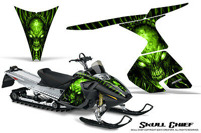 SKI-DOO RT MACH Z MX Z 05-09 SNOWMOBILE CREATORX GRAPHICS KIT SKULL CHIEF GL