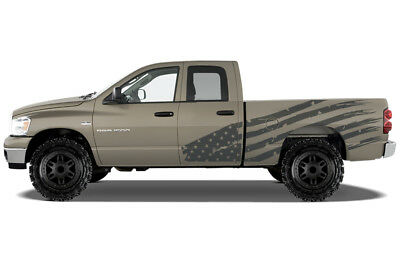 Custom Vinyl Decal PATRIOT Wrap Kit for Dodge Ram 1500/2500 Truck 2002-2008 GRAY