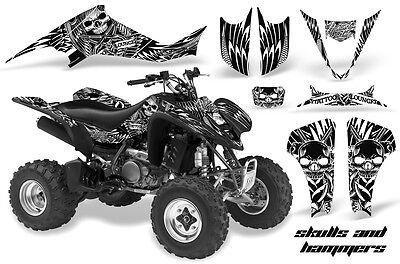 ATV Decal Graphic Kit Wrap For Suzuki LTZ400 Kawasaki KFX400 2003-2008 HISH WHT