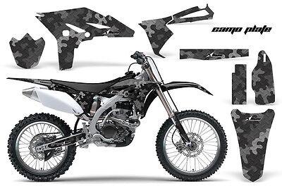 Dirt Bike Graphics Kit Decal Sticker Wrap For Yamaha YZ250F 2010-2013 CAMO BLACK