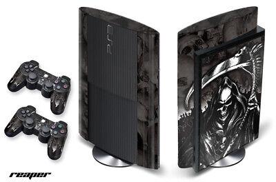 Carcasa Calcomanía Envuelva Para PS3 Super Slim PLAYSTATION 3 Consola + Mando...