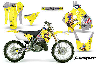 Dirt Bike Graphics Kit Decal Sticker Wrap For Suzuki RM125 1996-1998 TBOMBER YLW
