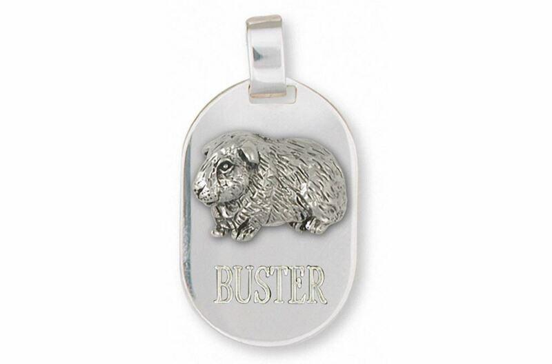 Guinea Pig Pendant Jewelry Sterling Silver Handmade Piggie Pendant GP7-DT