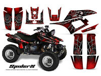 KAWASAKI KFX 700 GRAPHICS KIT CREATORX DECALS SPIDERX RED SXR