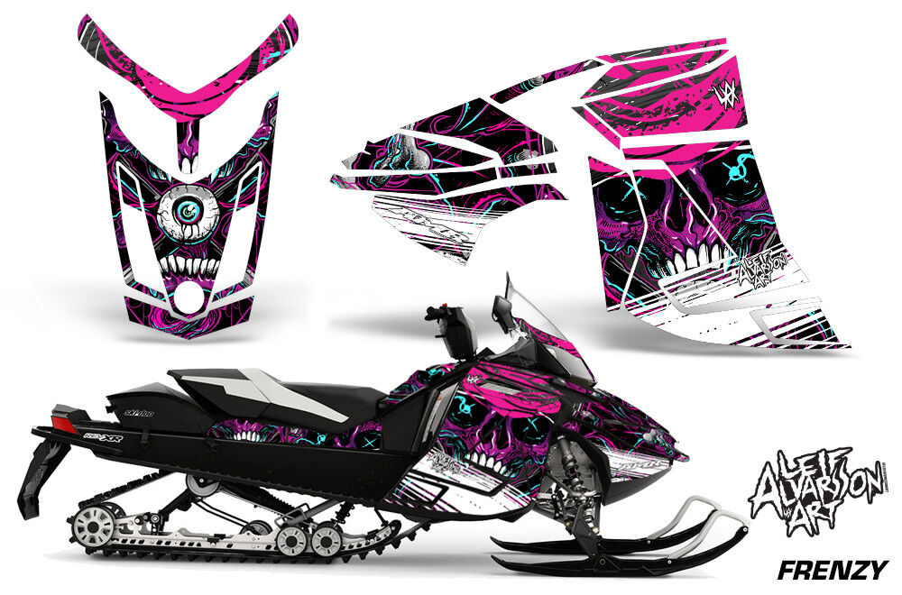 Ski-Doo Rev XR Decal Graphic Kit Sled Snowmobile Sticker Wrap 2013+ FRENZY PURPL