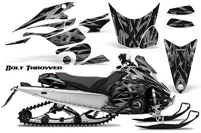 YAMAHA NYTRO SNOWMOBILE WRAP DECAL STICKERS 05-15 CARBON FIBER WITH STRIPE