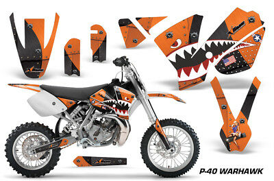 Dirt Bike Decal Graphics Kit Sticker Wrap For KTM SX65 SX 65 2002-2008 WARHAWK O