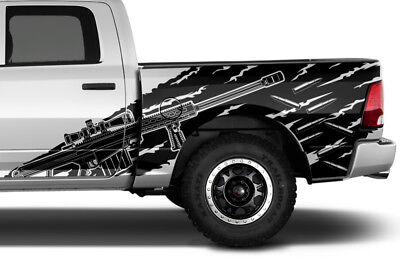 Vinyl Decal SNIPER Wrap Kit for Dodge Ram 2009-18 1500/2500 Truck 5.7 BED Black