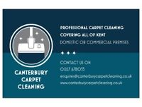 Professional carpet cleaning in Canterbury & the surrounding area