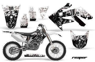 Dirt Bike Graphics Kit Decal Sticker Wrap For Honda CRF250R 2004-2009 REAPER WHT