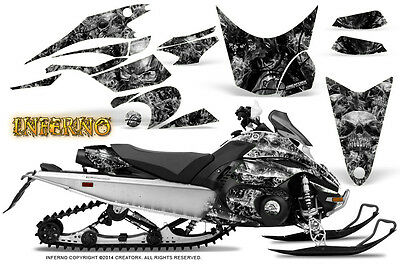 Yamaha FX Nytro 08-14 Graphics Kit CreatorX Snowmobile Sled Decals INFERNO S