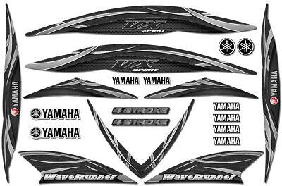 Graphics Kit Sticker Decal Wrap for Yamaha VX110 WAVERUNNER 05-09 BLACK