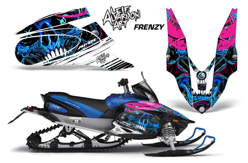 Yamaha APEX XTX Decal Wrap Graphic Kit Part Sled Snowmobile 2006-2011 FRENZY BLU