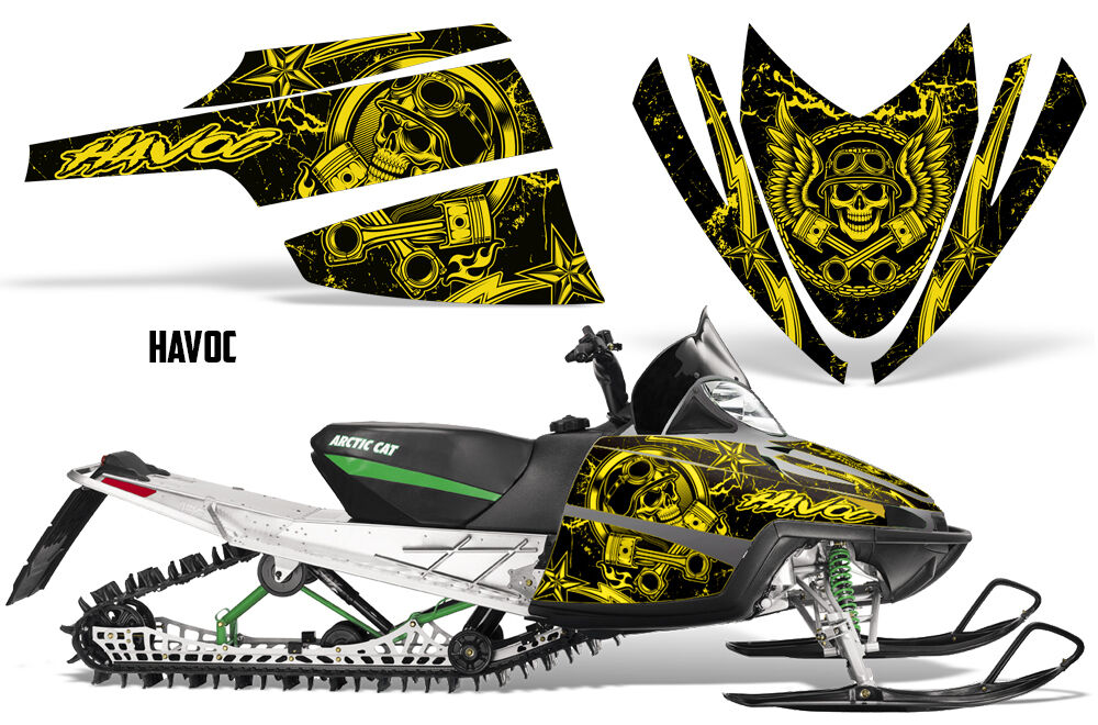Decal Graphic Kit Arctic Cat M Series AC Crossfire Sled Snowmobile Wrap HAVOC Y