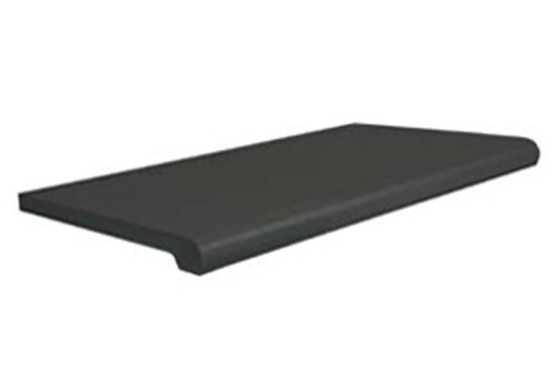 "Black Bullnose Plastic Shelf - For Gridwall or Slatwall - 13"" x 24"" - 4 Pieces"