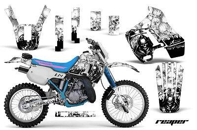 Dirt Bike Graphics Kit Decal Sticker Wrap For Kawasaki KDX200 89-94 REAPER WHITE