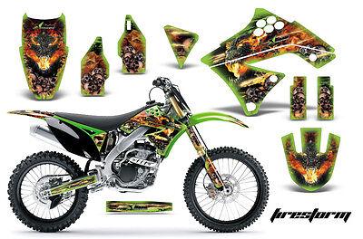 Dirt Bike Graphics Kit Decal Sticker Wrap For Kawasaki KX250F 09-12 FIRESTORM G
