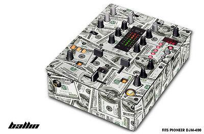Piel Calcomanía Envuelva para Pioneer DJM-400 Dj Mixer De CD pro Audio...