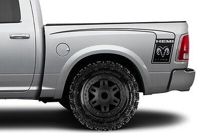 Vinyl Decal Wrap Kit for Dodge Ram 1500/2500/3500 2009-18 HEMI BED STRIPE Black