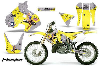 Dirt Bike Graphics Kit Decal Sticker Wrap For Suzuki RM250 1999-2000 TBOMBER YLW
