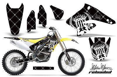 Dirt Bike Graphics Kit Decal Sticker Wrap For Suzuki RMZ250 2004-2006 RELOAD W K