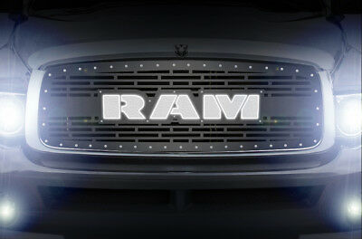 Custom Steel Lit Acrylic LED RAM Grille for 02-05 Dodge Ram 1500/2500/3500 Grill