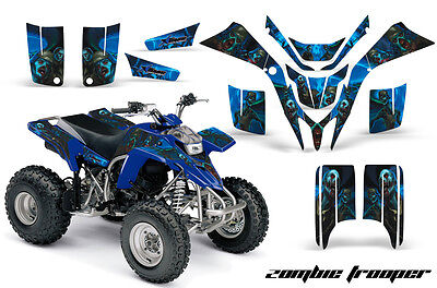 ATV Graphics Kit Quad Decal Wrap For Yamaha Blaster YFS200 1988-2005 ZOMBIE BLUE, used for sale  Shipping to Ireland