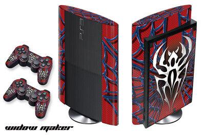 Carcasa Calcomanía Envoltorio Para PS3 Super Slim PlayStation 3 Consola+Mando